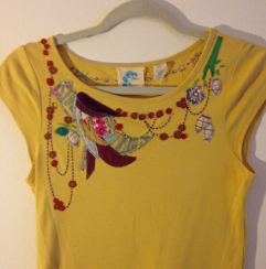 Anthro embroidered tee