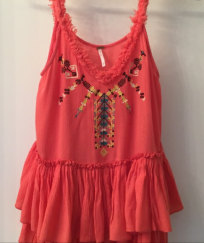 Free People boho emb top