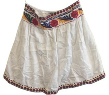 Mango emb skirt
