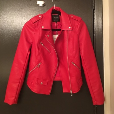 "Zara ""leather"" jacket red"