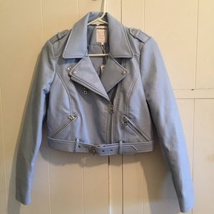 Zara sky blue cropped