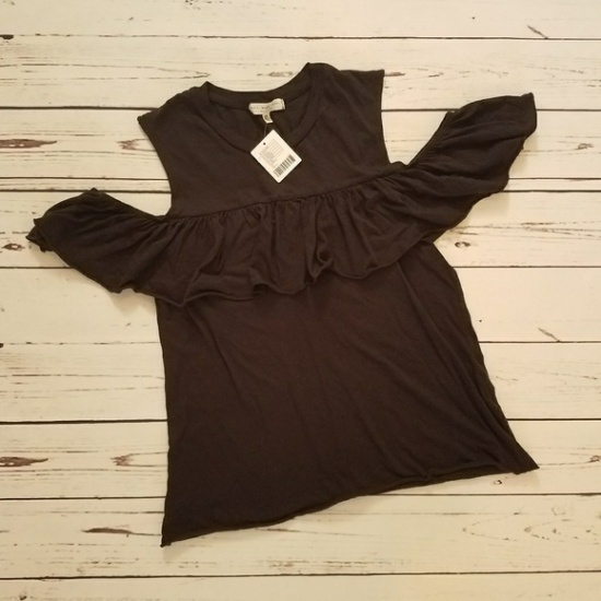 UO cold shoulder ruffle
