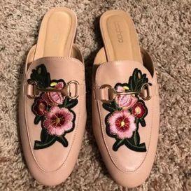 Boohoo floral slides